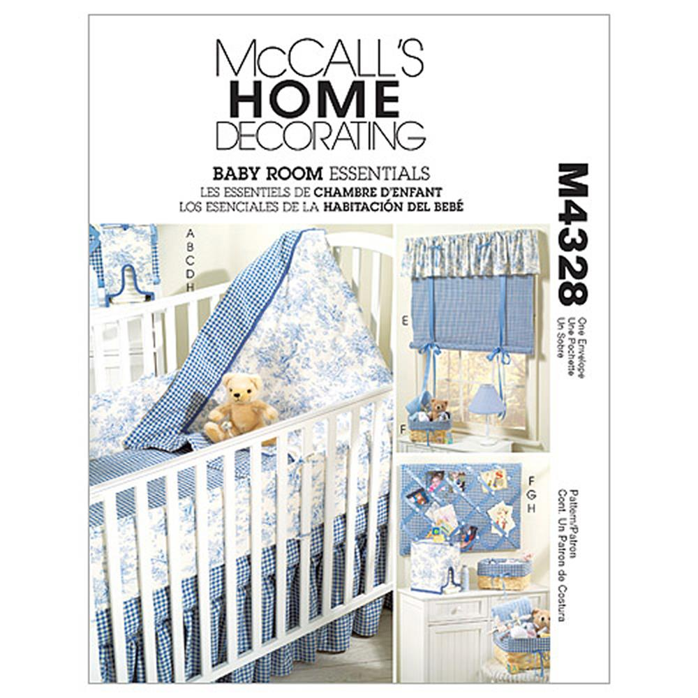 McCall's Baby Room Essentials Pattern M4328 Size OSZ