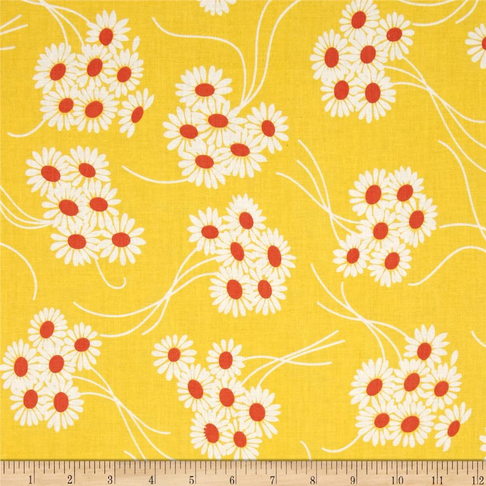 Denyse Schmidt Katie Jump Rope Daisy Bouquet Sunflower Fabric
