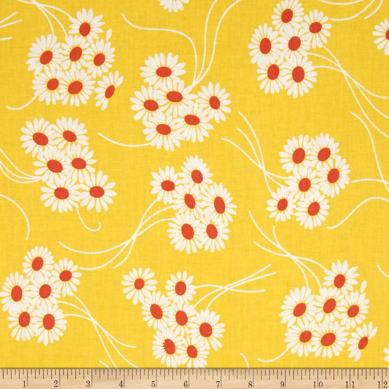 Denyse Schmidt Katie Jump Rope Daisy Bouquet Sunflower Fabric by Westminster in USA