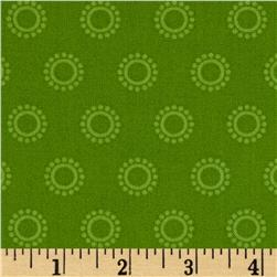 Boho Girl Circle Dots Lime