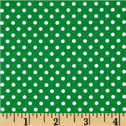 Moda Dottie Small Dots Emerald Fabric