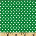 Moda Dottie Small Dots Emerald