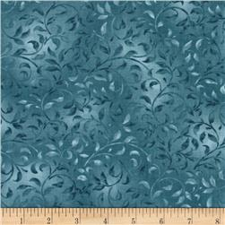Essentials Climbing Vine Dusty Blue Fabric