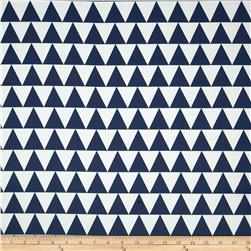 RCA Pax Triangles Blackout Drapery Fabric Blue