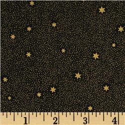 Lewis and Irene Make A Christmas Wish Tiny Dots and Stars Black