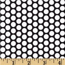 Riley Blake Honeycomb Dot Black/White Fabric
