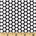 Riley Blake Honeycomb Dot Black/White