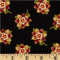 Bonsoir Flannel Small Floral Black