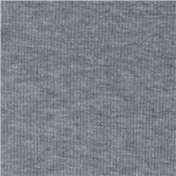 Basic Cotton Rib Knit Grey/White