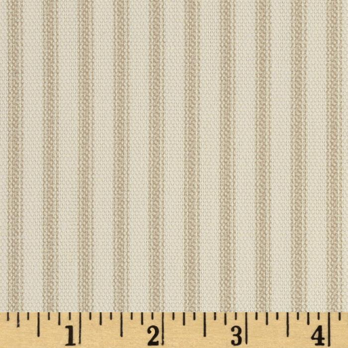 Vertical Ticking Stripe Ivory/Tan