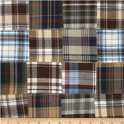 Madras Plaid Patchwork Brown/Sand/Blue