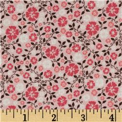 Riley Blake Round Up Floral Pink Fabric