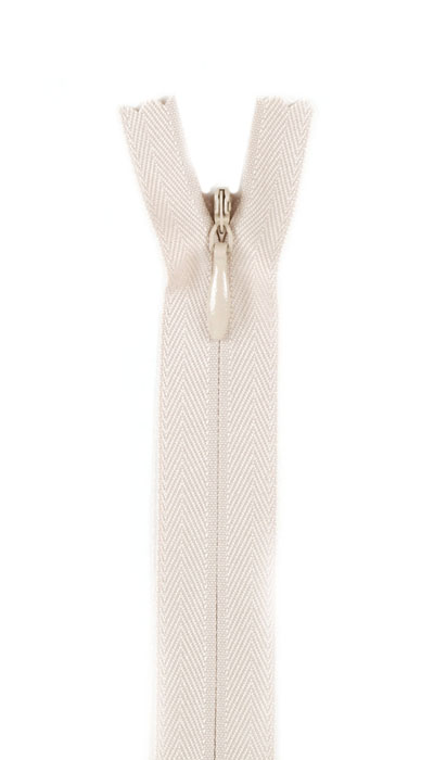 Image of 12/14'' Poly Invisible Zipper Natural