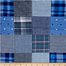Robert Kaufman Plaid Solid Dobby Patchwork Blue