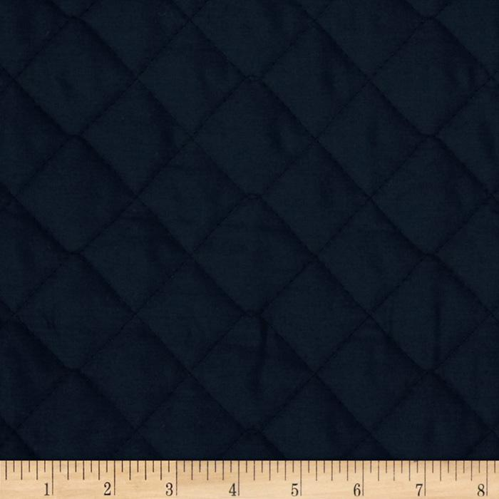Double sided quilted broadcloth navy discount designer for Cheap sewing fabric