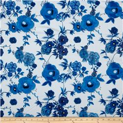 True Blue Floral White