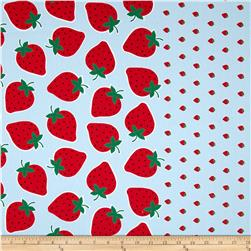 Seven Islands Strawberry Border Print Blue