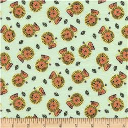 Timeless Treasures Safari Crush Flannel Lions Green