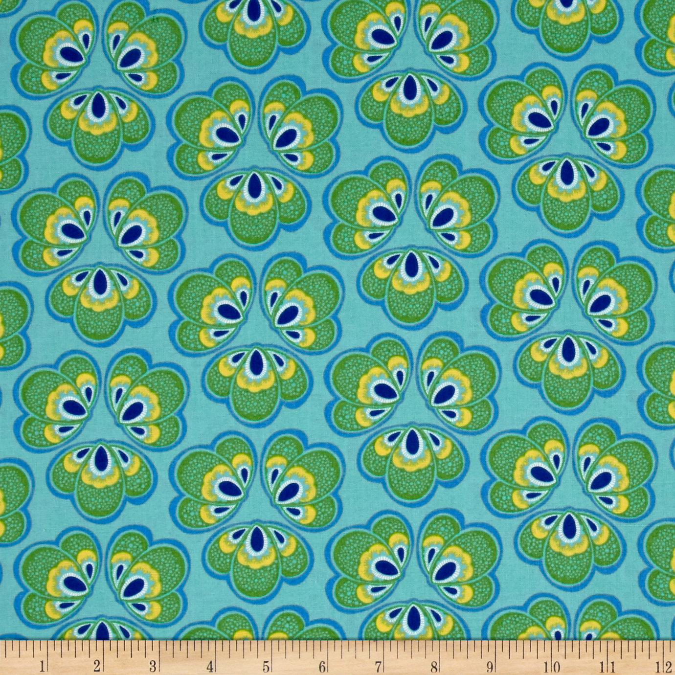 Windham Spring Bloom Medallion Floral Turqouise Fabric by Windham in USA