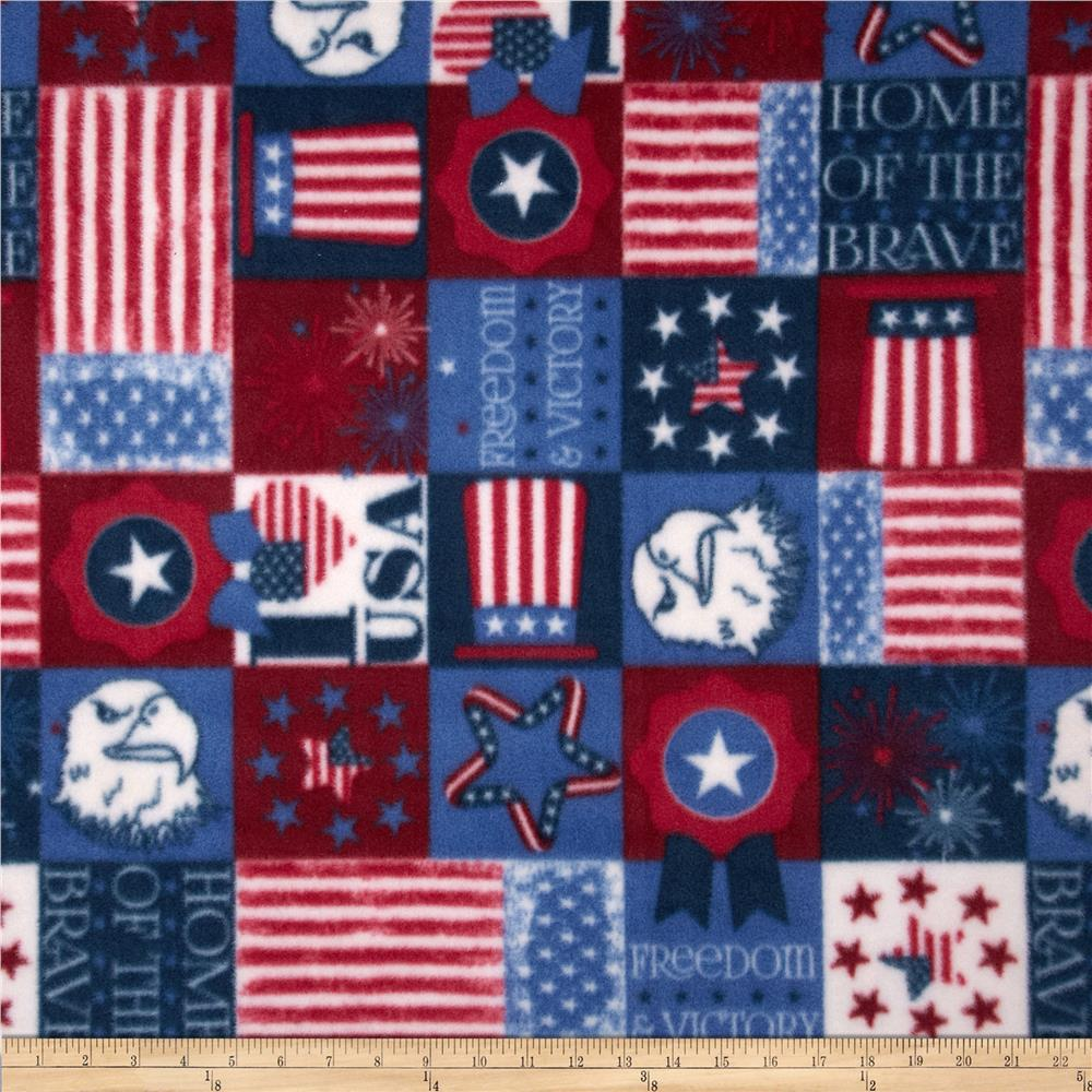 Fleece Patriotic Patch Blue