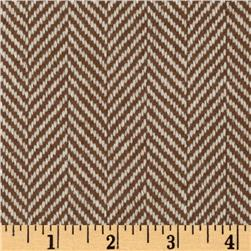 Wool Blend Coating Herringbone Tan/Cream