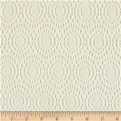 Doily Lace Ovals Ivory Fabric