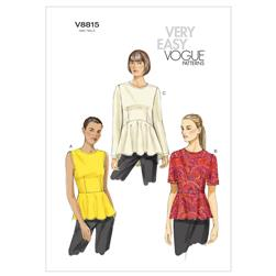 Vogue Misses' Top Pattern V8815 Size B50