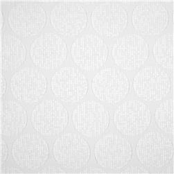 Playful Jacquard Circles White