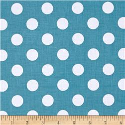Riley Blake Basics Medium Dot Teal