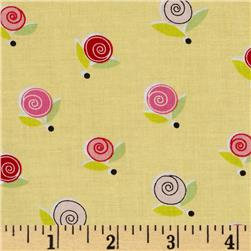 Sugar & Spice Small Rosette/ W/Dot Yellow