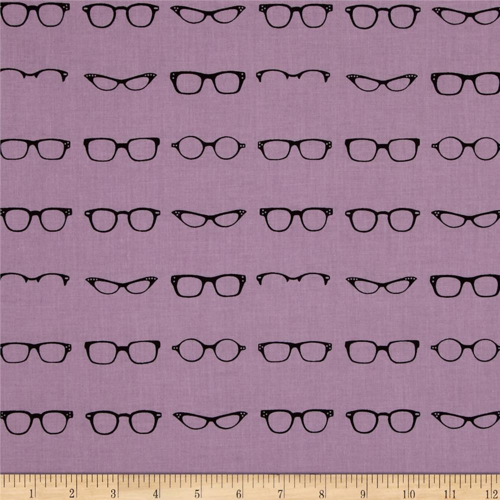 Riley Blake Geekly Chic Glasses Lavender