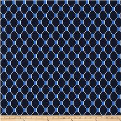Michael Miller Fish Net Indigo