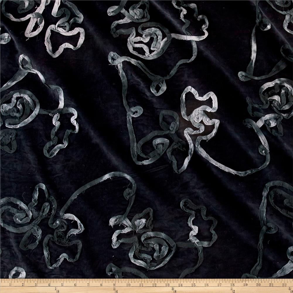 Corduroy Ribbon Black