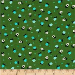 Cotton & Steel Cookie Book Mini Flowers Green