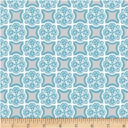 Riley Blake RoseCliff Manor Medallion Teal