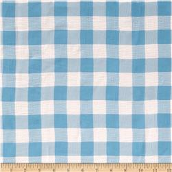 Crushed Chiffon Checkered Blue