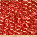Indian Batik Hollow Ridge Dots  Red/Natural