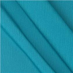 Lyric Wide Crinkle Polyester Shirting Teal