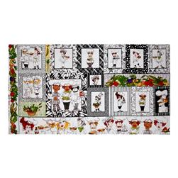 "Loralie Designs What's Cookin'? 23.5"" Panel Black"
