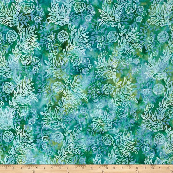 Bali Batiks Handpaints Flower & Leaf Dewdrop