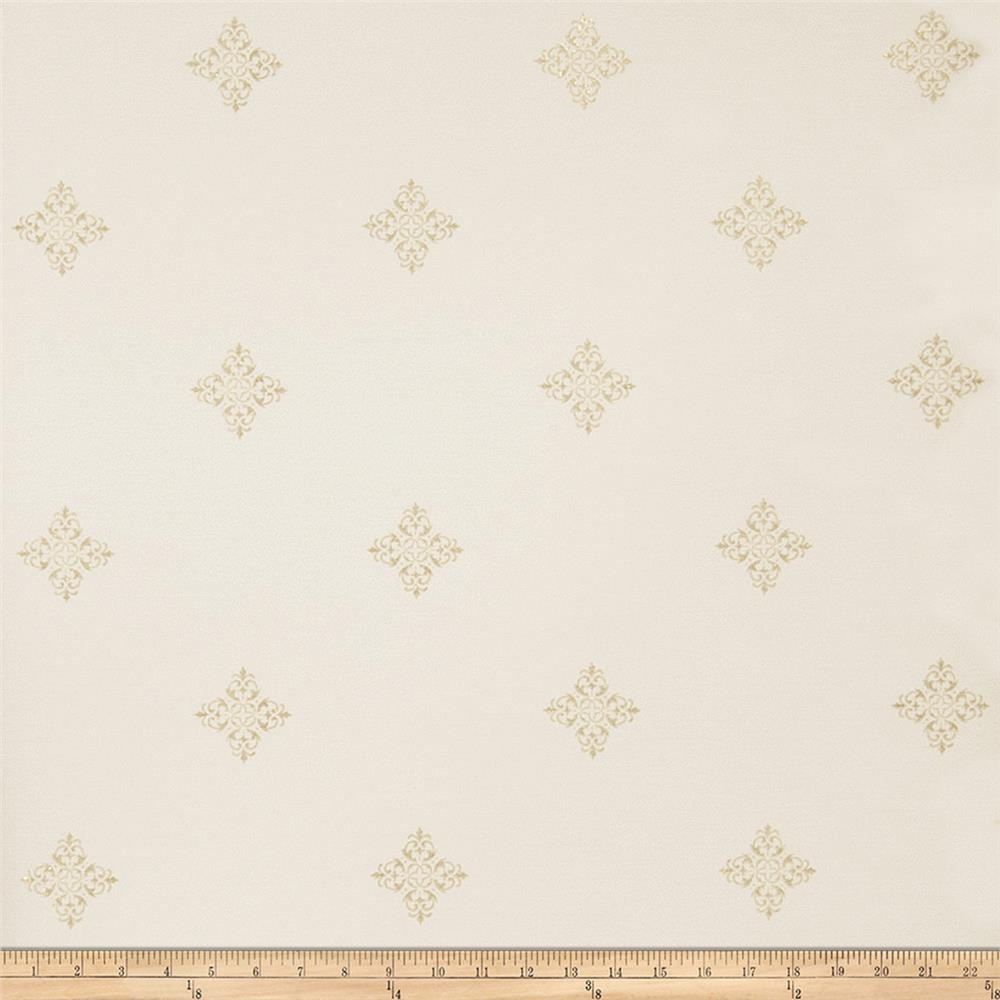Fabricut Bacall Wallpaper Ivory Gold (Double Roll)