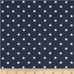 Premier Prints Mini Stars Blue/White