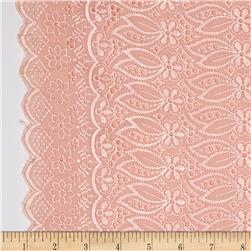 Fancy Eyelet Peach