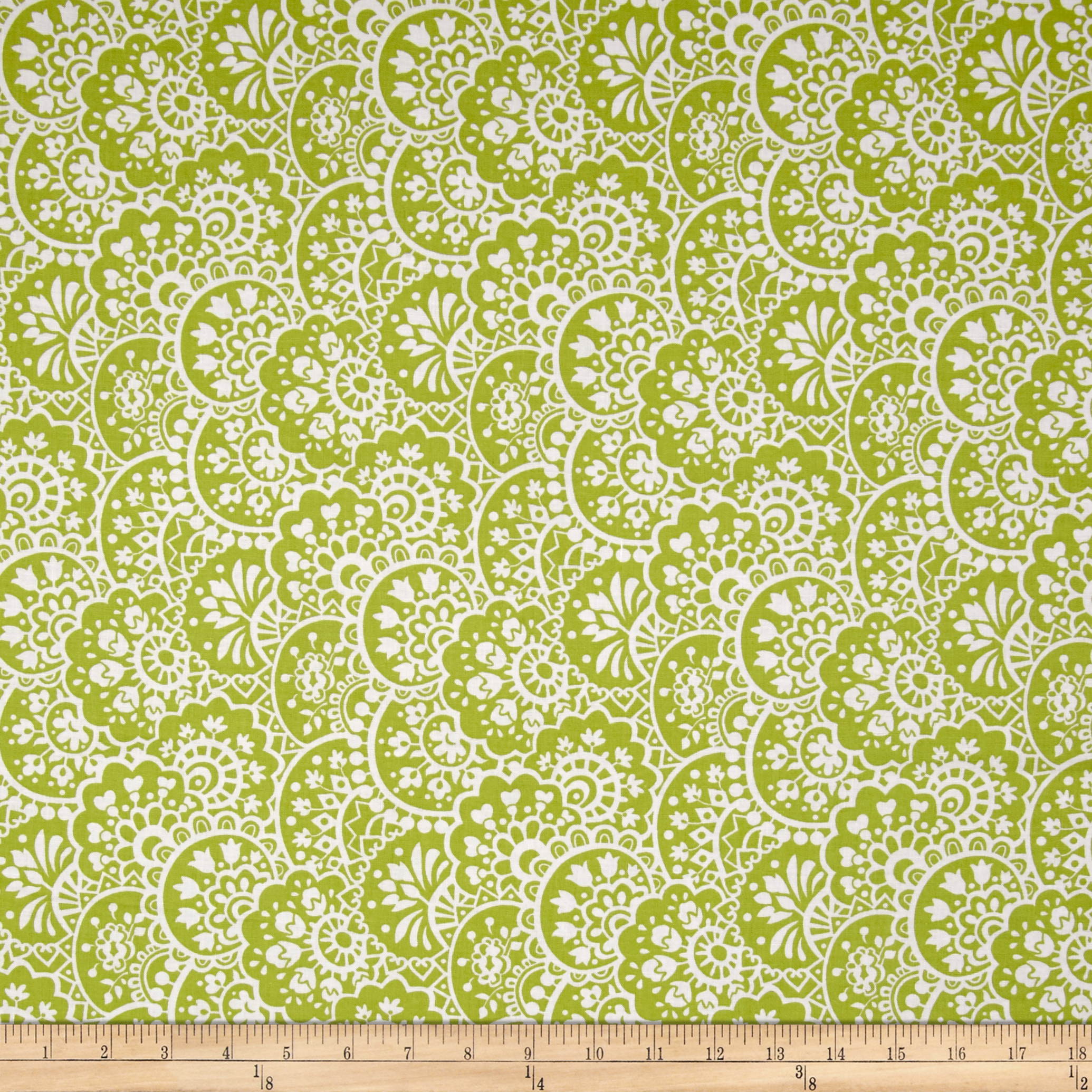 INOpets.com Anything for Pets Parents & Their Pets Bree Paisley Green Fabric