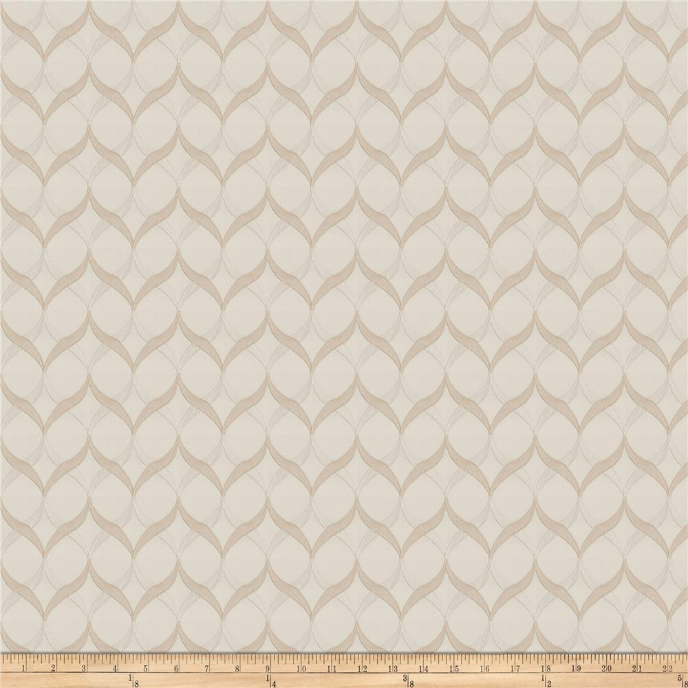 Fabricut Yufka Lattice Faux Silk Beige