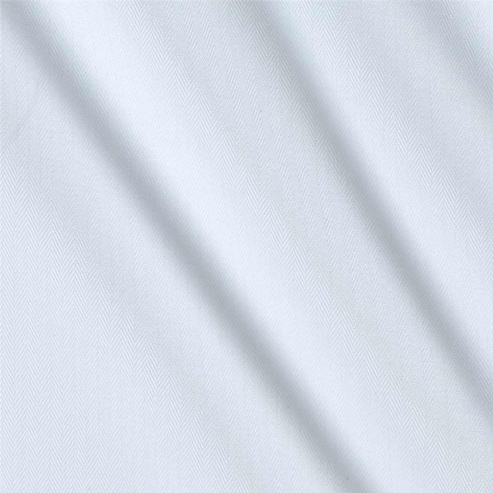 Kaufman White Shirt Yarn Dyed Herringbone Stripe White Fabric