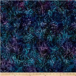 Kaufman Artisan Batiks Enchanted Ferns Wineberry