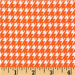 Dots and More Houndstooth Orange/White Fabric