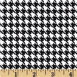 Harlequin Stretch Cotton Sateen Houndstooth Black/White