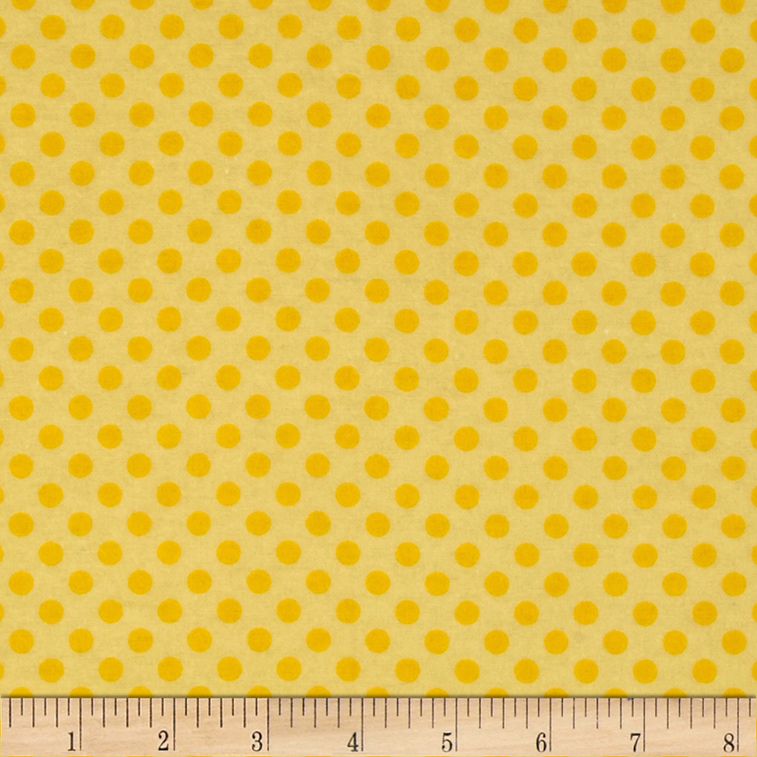 Flannel Polka Dots Yellow Fabric